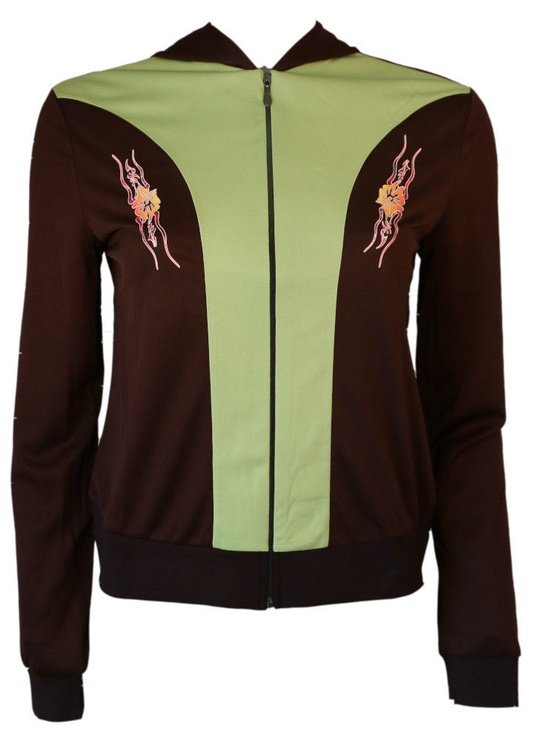 Bars Womens Sport Jacket Brown/Green 132 XL