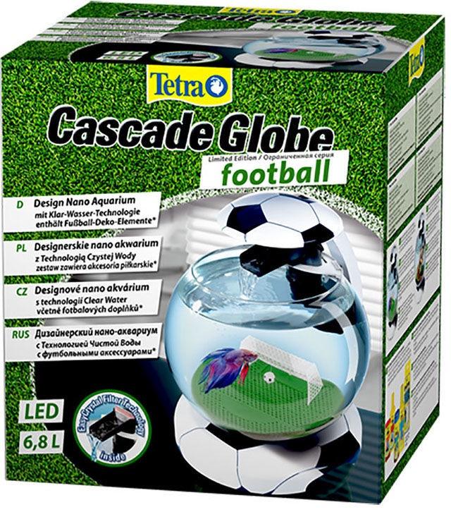 Akvariumas Tetra Cascade Globe Football, juodas, 6.8 l, su įranga