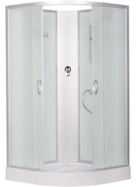 Pusapvalė dušo kabina Erlit 3509PE-C3, 90 x 90 x 195 cm, su padėklu