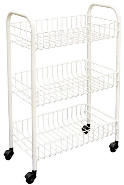 Serveerimiskäru Metaltex Siena Rolling Cart 41 x 60cm White