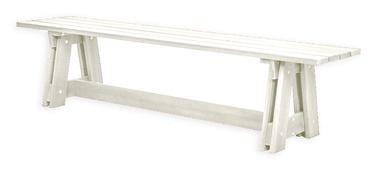 Suoliukas Folkland Timber Riva 132, baltas, 180x40x43 cm