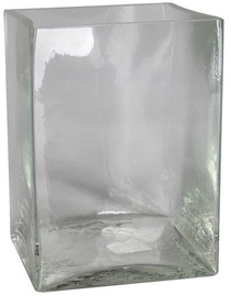 Verners Square Vase 20x15x15cm Transparent