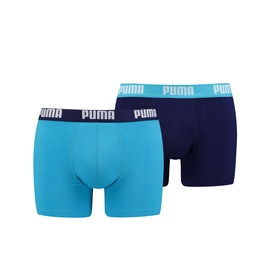 Puma Basic Boxer Aqua/Blue S 2pcs 90682310