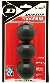 Dunlop Progress Squash Balls Black