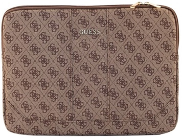 "Guess 4G Design Universal Pouch With Zipper 13"" Brown"