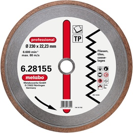 Metabo TP 230x22.23mm Tile Diamond Disc