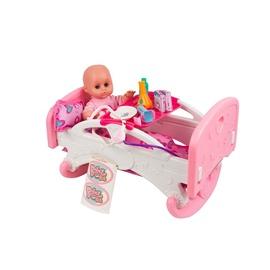 Žaislinė lovelė lėlei su priedais