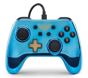 Игровой контроллер PowerA Wired Controller Chrome Series Blue Legend of Zelda: BotW Edition