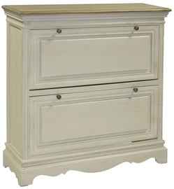 Home4you Shoe Cabinet Samira Antique White/Brown 13716