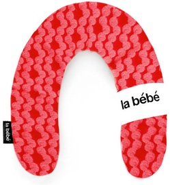 La Bebe Rich Cotton Nursing Maternity Pillow 30x104cm White & Red Ornament 24427