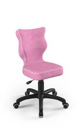 Детский стул Entelo Petit VS08, черный/розовый, 370x350x830 мм