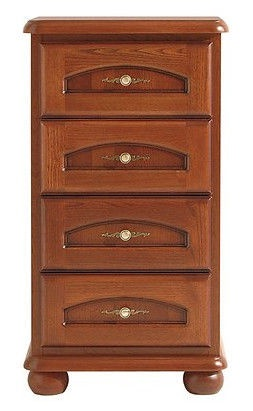Black Red White Bawaria Chest Of Drawers 45.5x60x109.5cm Brown