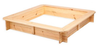 Folkland Timber Sandbox Four Corner With Foldable Lid Natural
