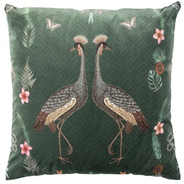 Home4you Holly Cushion 65x65cm Green/Tropical Birds