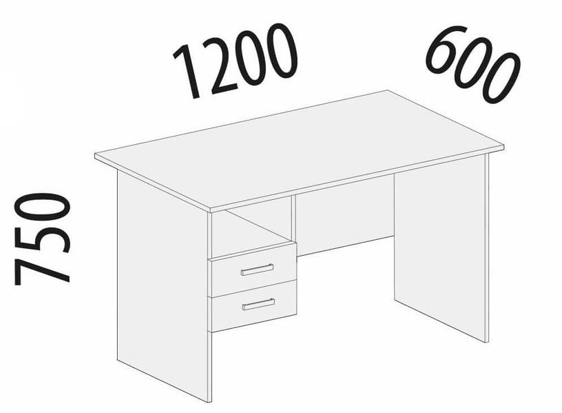 DaVita Rubin 41.42 Desk Nut