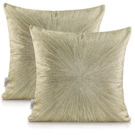 AmeliaHome Nancy Pillowcase 45x45 Gold 2pcs