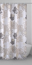 Gedy Caffee Shower Curtains 200x240cm Brown White