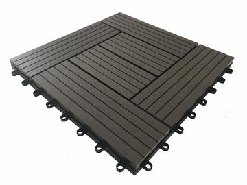 WPC terasų plytelė, 30x30x2.2 cm, ruda