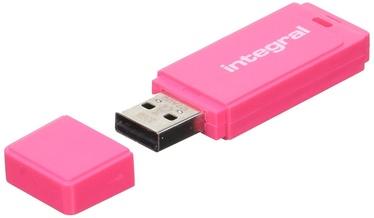 USB atmintinė Integral Neon Pink, USB 2.0, 32 GB
