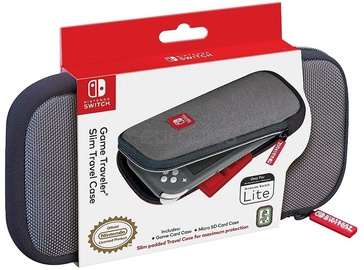 RDS Game Traveler: Slim Travel Case Grey Switch Lite