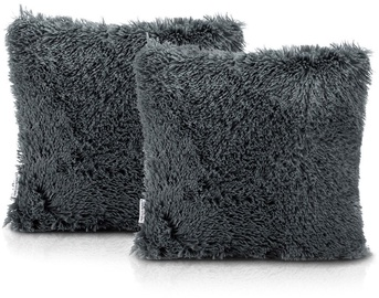AmeliaHome Karvag Pillowcase 45x45 Dark Grey 2pcs
