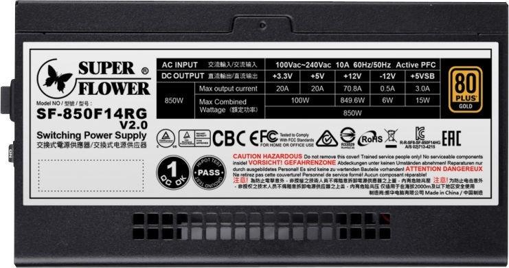 Super Flower Leadex III Gold ARGB Pro 850W Black