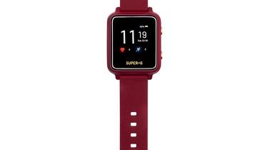 Išmanusis laikrodis Gudrutis Super-G Active - Burgundy, rožinė