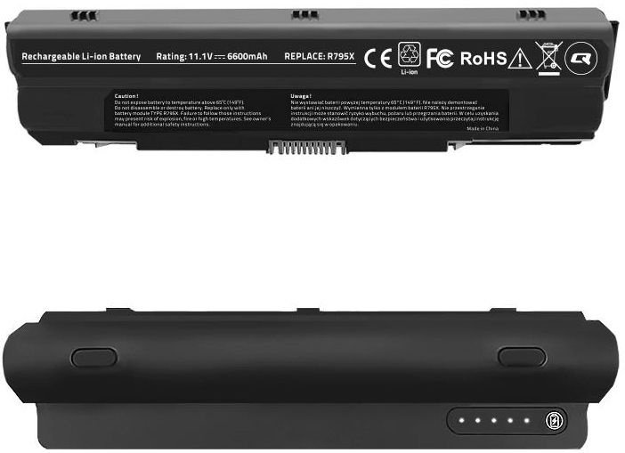 Qoltec Long Life Notebook Battery For Dell XPS 14/15/17 6600mAh