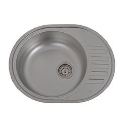 Asil Krom Sink Linen AS03 With Siphon AS1007