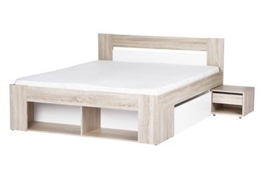 Miegamojo baldų komplektas Milo, lova su 2 spintelėmis, 140 x 200 cm