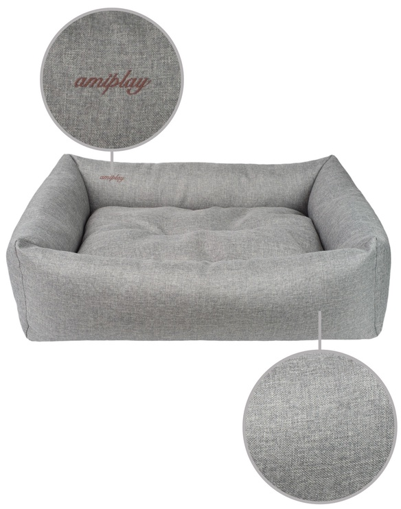 Лежанка Amiplay Palermo Sofa S 58x46x17cm Light Gray