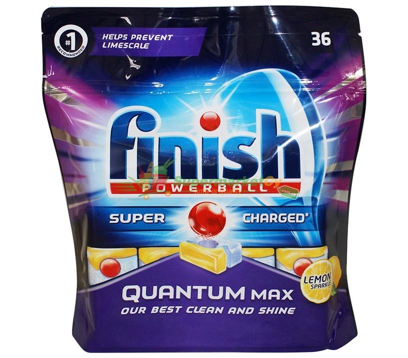 Капсулы для посудомоечной машины Finish Quantum Lemon, 36 шт.