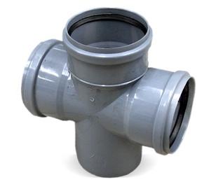 Kanalizācijas caurules krustgabals Bees D110mm, 90°, PP