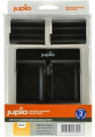 Jupio Kit 2x  EN-EL15 1700mAh + USB Dual Charger