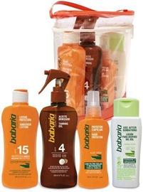 Babaria Sun Sunscreen Lotion SPF15 200ml + 200ml Tanning Oil SPF4 + 100ml Hair Protector + 150ml After Sunbathing Lotion + Bag