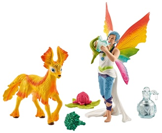 Schleich Rainbow Dunia Elf With A Foal 41438
