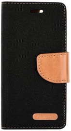 Forcell Canvas Book Case For Samsung Galaxy J7 J730F Black