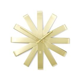 Umbra Ribbon Wall Clock Brass
