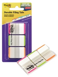 3M Post It Index Strong Filing Tab Assorted Colours 3x22pcs Clear