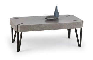 Kohvilaud Halmar Emily Concrete/Black, 1100x600x420 mm