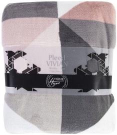 Home4you Plaid/Blanket Vivian 150x200cm Pink Triangles