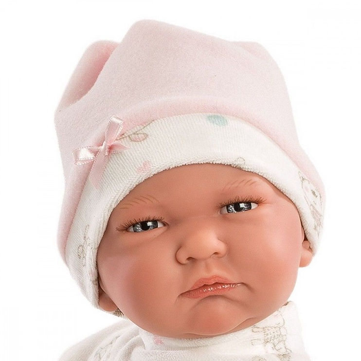 Llorens Doll Newborn Lala In Pink Coveralls 42cm 74038