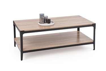 Kavos staliukas Halmar Ariza Natural Oak/Black, 1200x600x450 mm