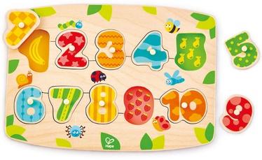 Koka puzle Hape Number Peg E1404A, 10 gab.