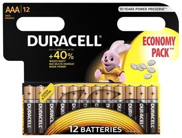 Baterijas Duracell Alkaline Long Lasting Power 12x AAA