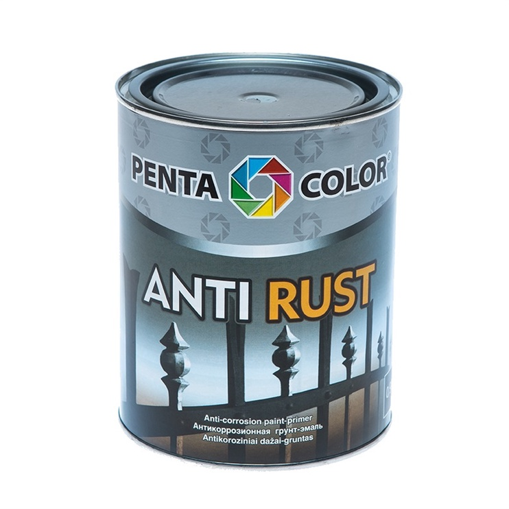 Antikoroziniai gruntiniai dažai Pentacolor Antirust, pilki, 0.9 l