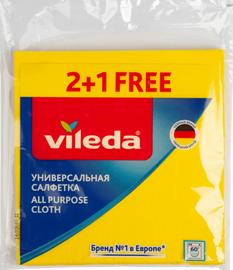 Šluostė Vileda 7109185, geltona, universali, 3 vnt.