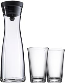 WMF Water Decanter Basic 1l + 2 Water Glasses 0.25l