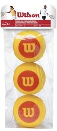 Tennisepall Wilson Starter Foam WRZ258900, punane/kollane, 3 tk