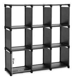 Songmics Cube Storage Shelf Black 105x105cm